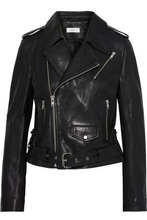 A.L.C. Dree lace-up leather biker jacket