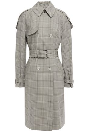 MICHAEL MICHAEL KORS Belted checked stretch-wool trench coat