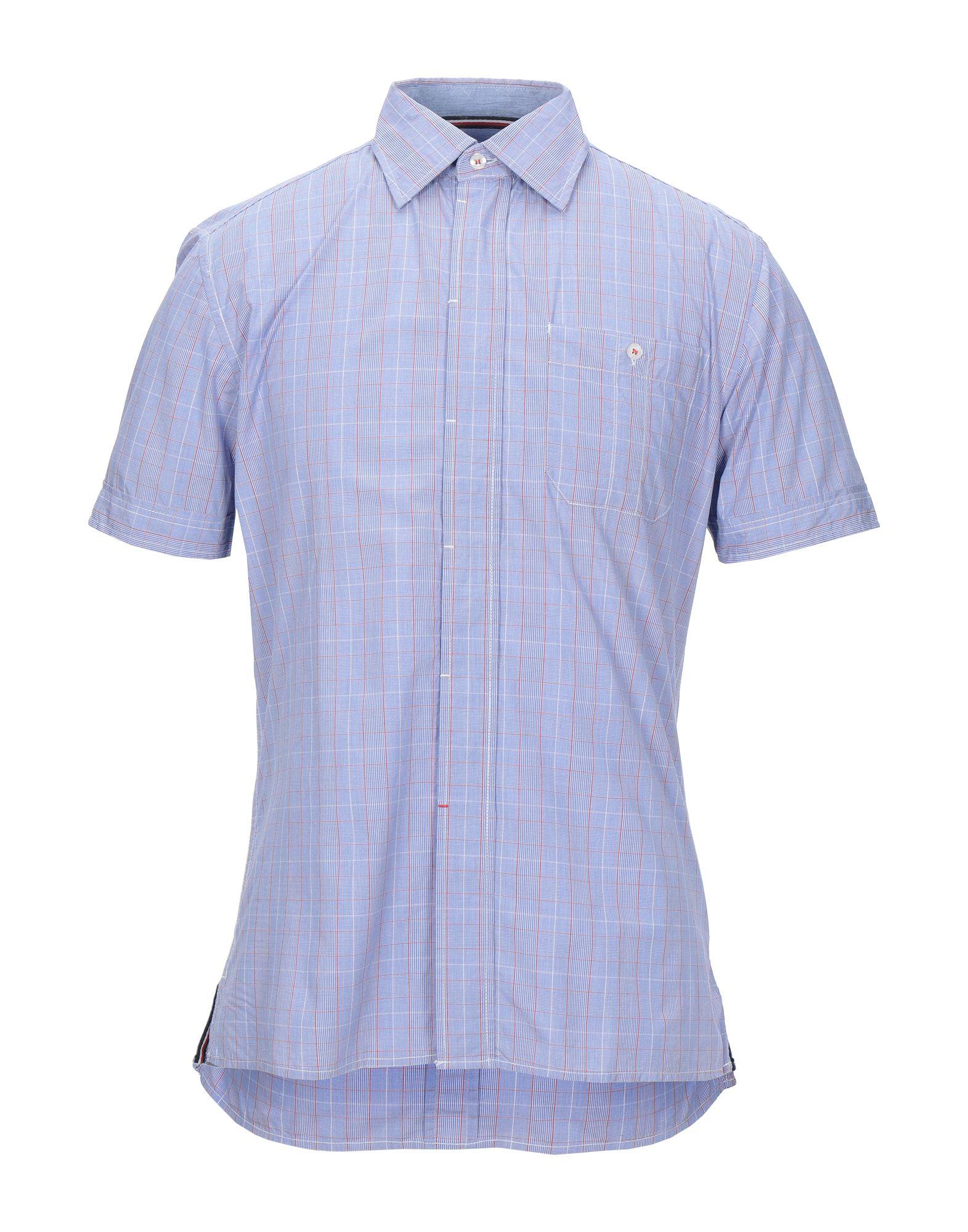 《セール開催中》BULL & BEAR メンズ シャツ アジュールブルー M コットン 100%
