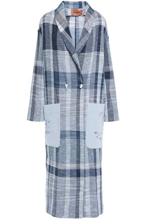 MISSONI Checked cotton-blend coat