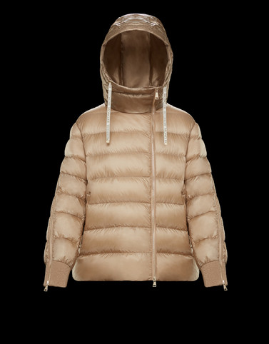 KHOLM Camel Short Down Jackets Woman