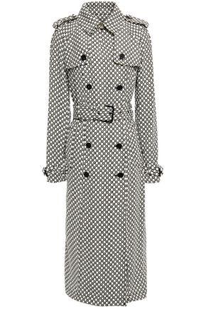 MICHAEL MICHAEL KORS معطف واقٍ من المطر من الكريب مزوّد بحزام ومطبع بشعار الماركة