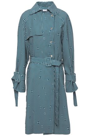CARVEN Belted printed cady trench coat