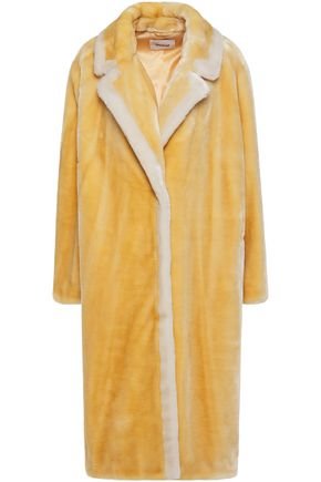 STAND STUDIO Marianne two-tone faux fur coat