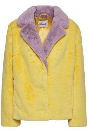 STAND STUDIO Mariska two-tone faux fur jacket