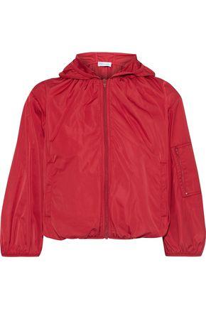 REDValentino Cropped shell hooded jacket