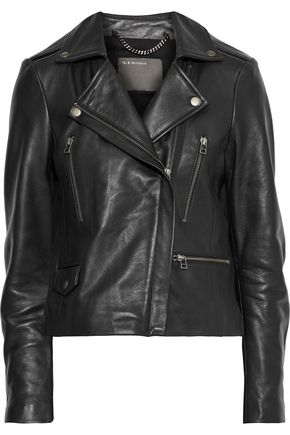 MUUBAA Calista textured-leather biker jacket