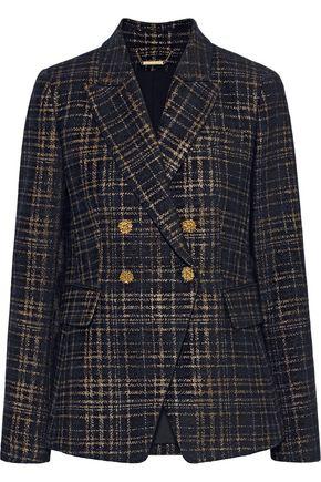 ELIE TAHARI Jezebel double-breasted checked cotton-blend tweed blazer