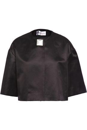 LANVIN Embellished cotton and silk-blend duchesse-satin jacket