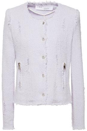 IRO Agnette distressed cotton-blend bouclé-tweed jacket
