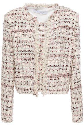 IRO Locali cropped frayed bouclé-tweed jacket
