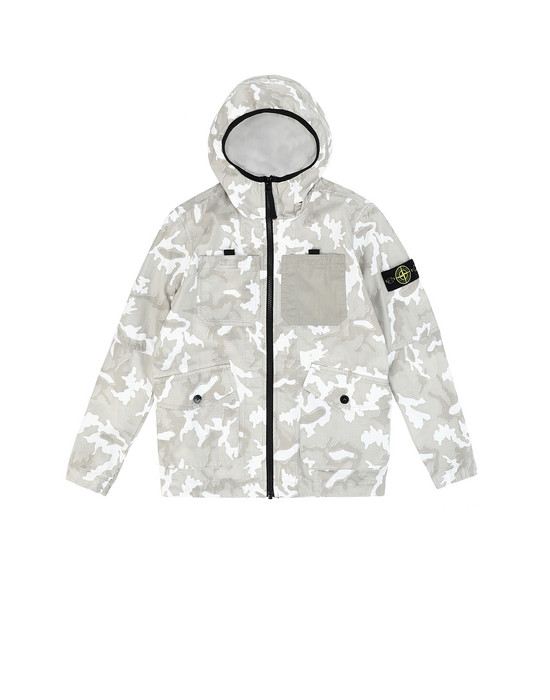 Blouson Homme 41337 CAMOUFLAGE Front STONE ISLAND JUNIOR