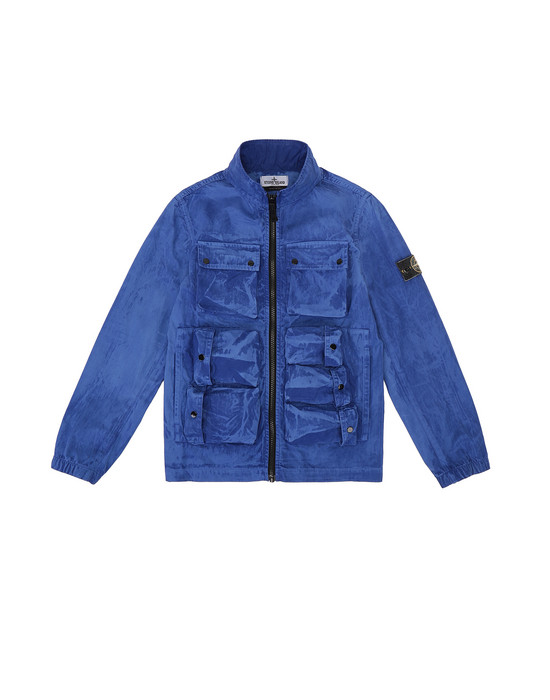 Jacket Man 41236 TRATTAMENTO BRUSH Front STONE ISLAND JUNIOR
