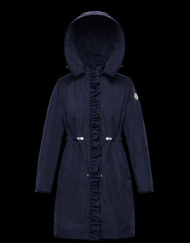 OUTREMER Blue Coats & Trench Coats Woman