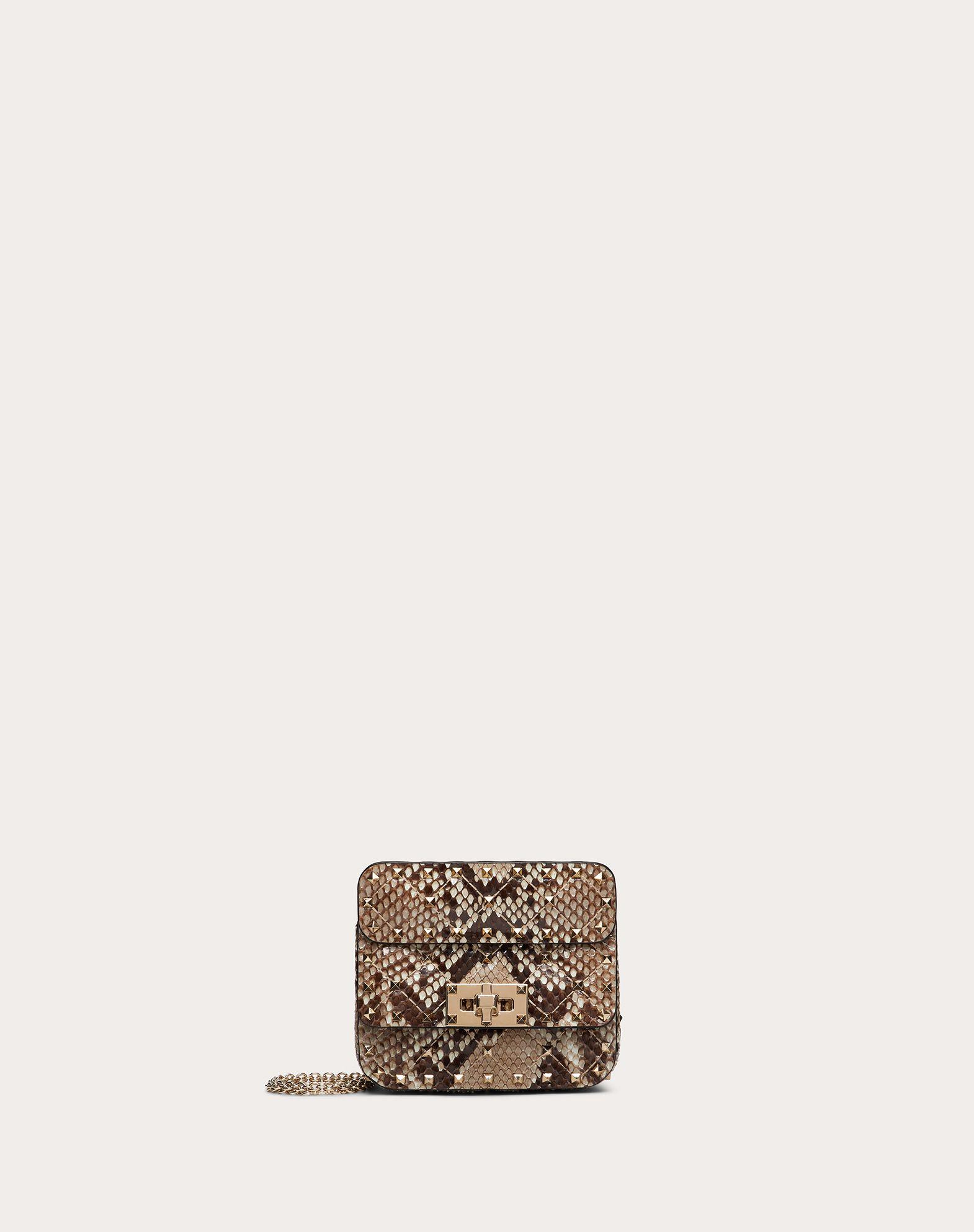 Micro Rockstud Spike Python Skin Bag