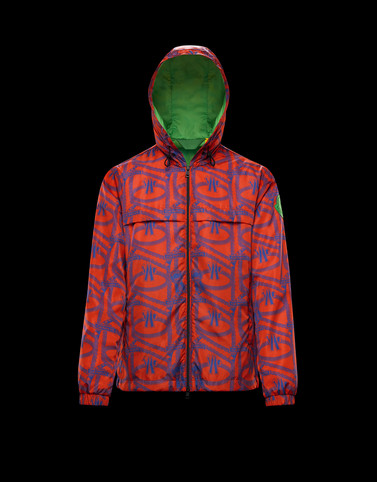 JAU Red Down Jackets Man