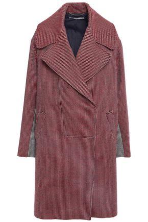 STELLA McCARTNEY معطف من الصوف بنمط المربعات الصغيرة وبلونين