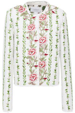 GIAMBATTISTA VALLI Embroidered cotton-blend bouclé jacket