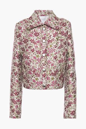 GIAMBATTISTA VALLI Cropped floral-jacquard jacket