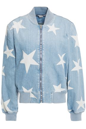 STELLA McCARTNEY Printed denim bomber jacket