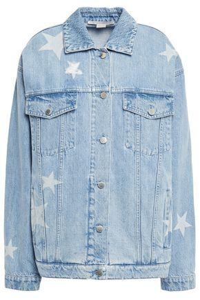 STELLA McCARTNEY Distressed printed denim jacket