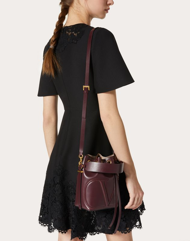 VLOGO Walk Calfskin Bucket Bag