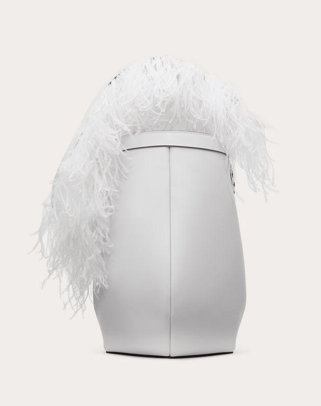 Calfskin Hobo Bag with Feather Shoulder Strap