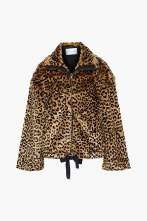 REBECCA MINKOFF Brigit leopard-print faux fur jacket