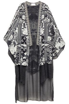 CAMILLA Wild Moonchild embellished chiffon and printed silk crepe de chine kimono