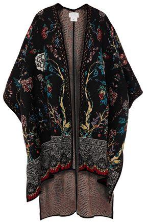 CAMILLA Crystal-embellished jacquard-knit wrap