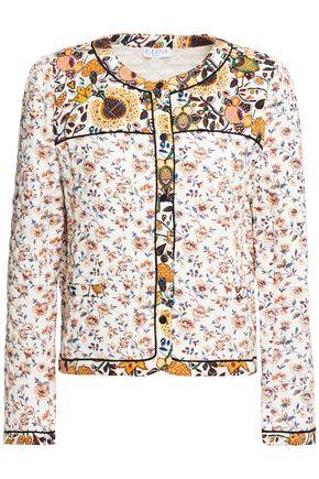 CLAUDIE PIERLOT Quilted floral-print crepe jacket