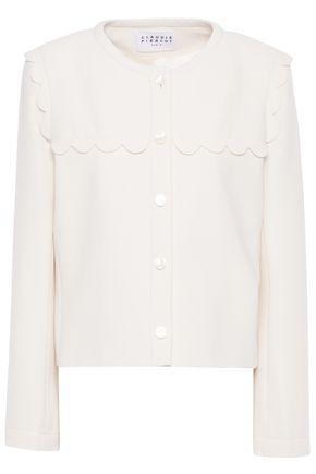 CLAUDIE PIERLOT Scalloped crepe jacket