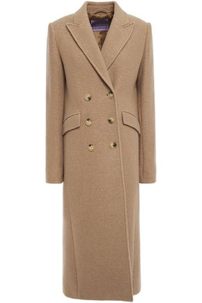 ALEXACHUNG Double-breasted boiled wool bouclé coat