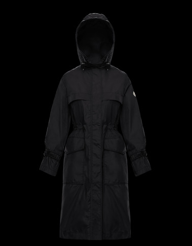CERULEUM Black Coats & Trench Coats Woman