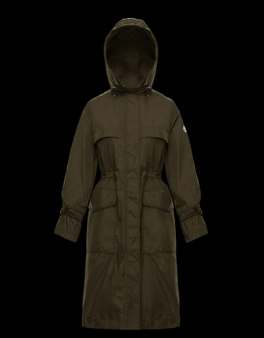 CERULEUM Military green Category Parka Woman