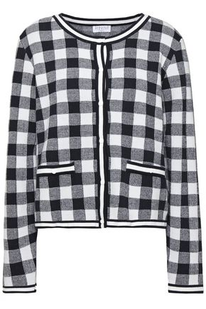 CLAUDIE PIERLOT Gingham knitted cardigan