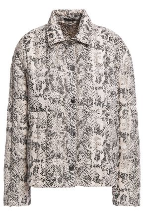 ATM ANTHONY THOMAS MELILLO Quilted snake-print shell down jacket