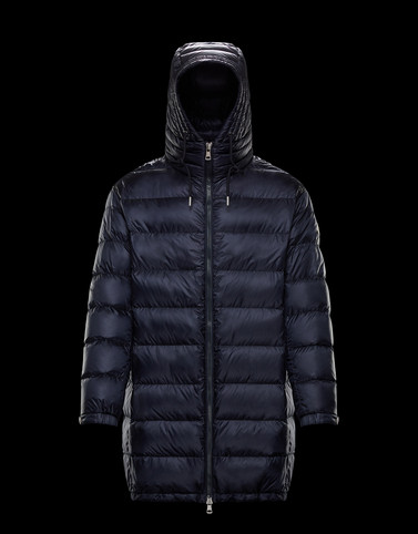 TRAYAS Dark blue Down Jackets Man