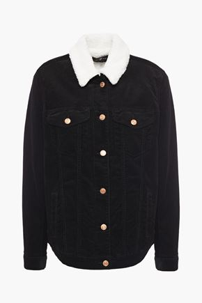 7 FOR ALL MANKIND Faux shearling-trimmed cotton-blend corduroy jacket