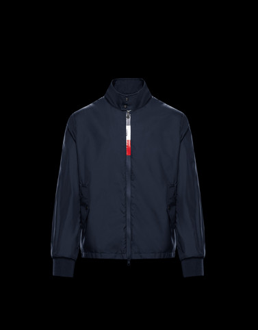 WIMEREUX Dark blue Windbreakers Man