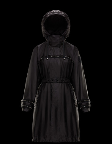 PRASIN Black Category Long outerwear Woman