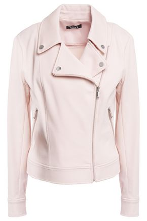 DKNY Stretch-twill biker jacket