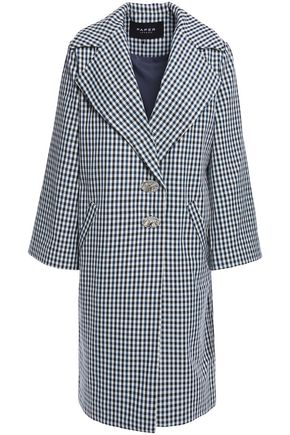 PAPER London Check Me Out gingham twill coat