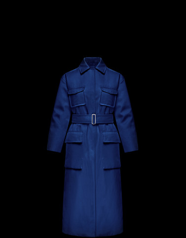MARIGOLD Dark blue Coats & Trench Coats Woman