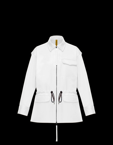 CLOVER White Jackets Woman