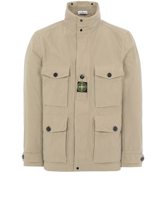 STONE ISLAND 41921 COTTON / CORDURA® Jacket Man Dark Beige