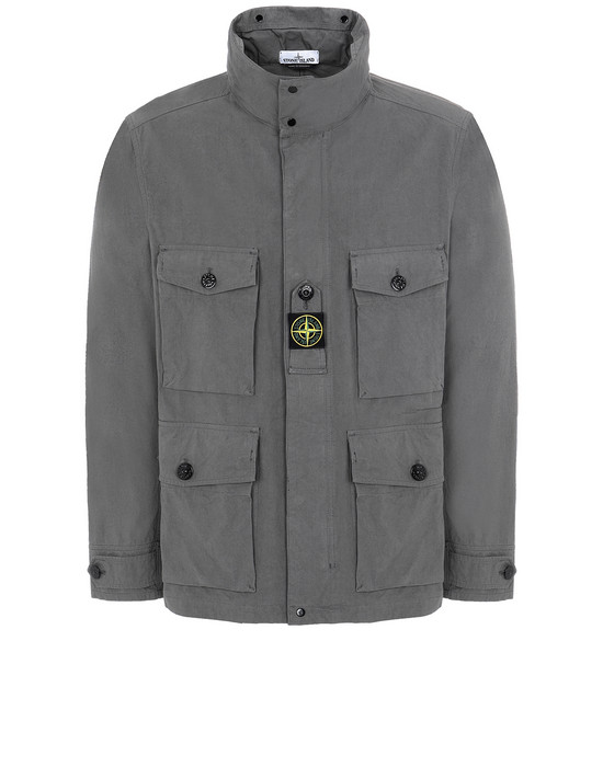 STONE ISLAND 41921 COTTON / CORDURA® Jacket Man Blue Grey