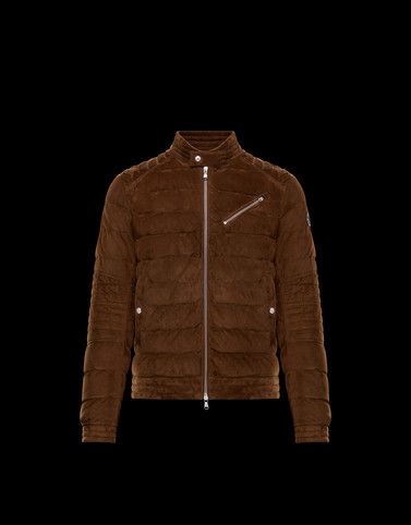 RAVNI Brown Down Jackets Man