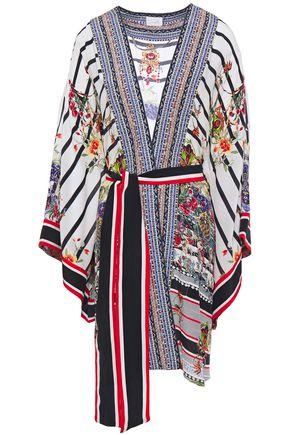 CAMILLA Joie De Vivre crystal-embellished printed silk-crepe kimono