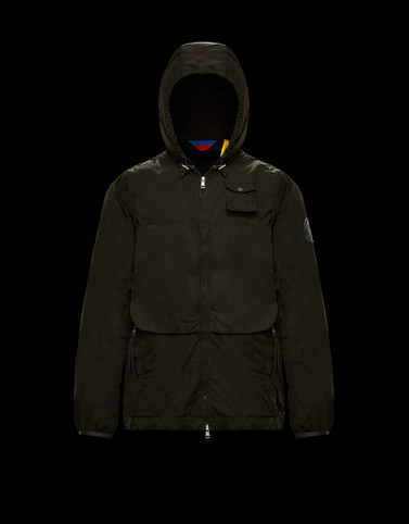 NUVOLAO Dark green Windbreakers Man